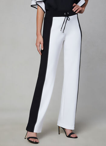Joseph Ribkoff - Two-Tone Pants, White, hi-res