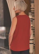 V-Neck Sleeveless Top, Red