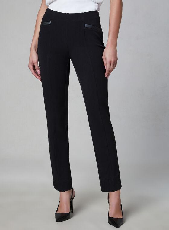 Pantalon coupe Amber à jambe étroite, Noir