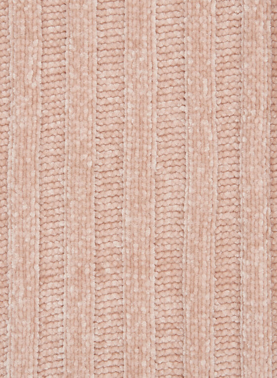 Chenille Knit Scarf, Pink, hi-res