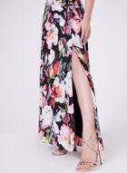 Cachet - Robe fleurie à encolure cache-cœur, Noir, hi-res