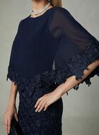 Decode 1.8 - Crochet Poncho Dress, Blue, hi-res
