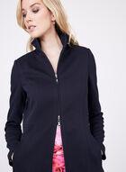Nuage - Stand Collar Long Coat , Blue, hi-res