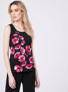 Floral Print Sleeveless Top, Multi, hi-res