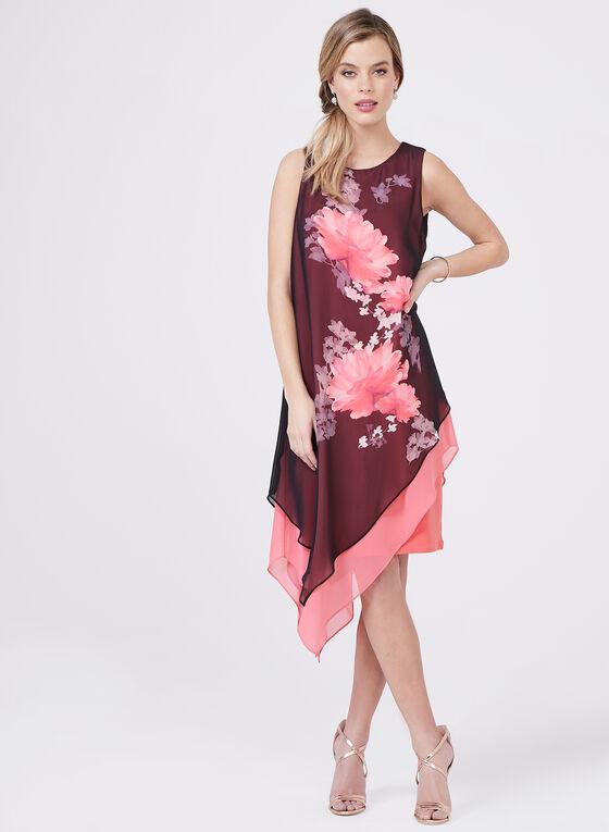 Frank Lyman – Asymmetric Floral Print Dress, Multi