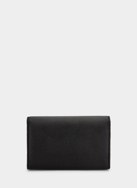 Crystal Detail Clutch, Black
