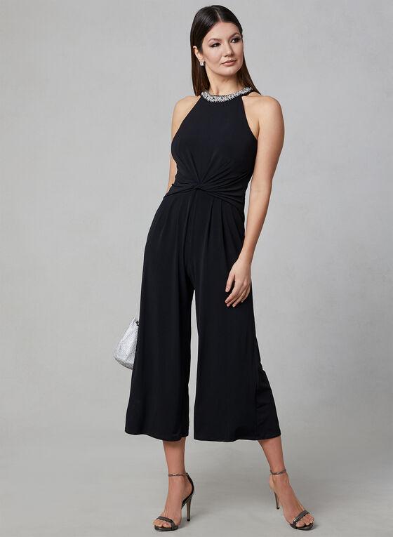 Maggy London - Embellished Collar Jumpsuit, Black, hi-res