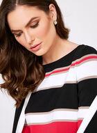 Bold Stripe Knit Sweater, Black, hi-res