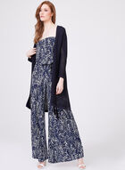 Ariella - Paisley Print Strapless Jumpsuit, Blue, hi-res