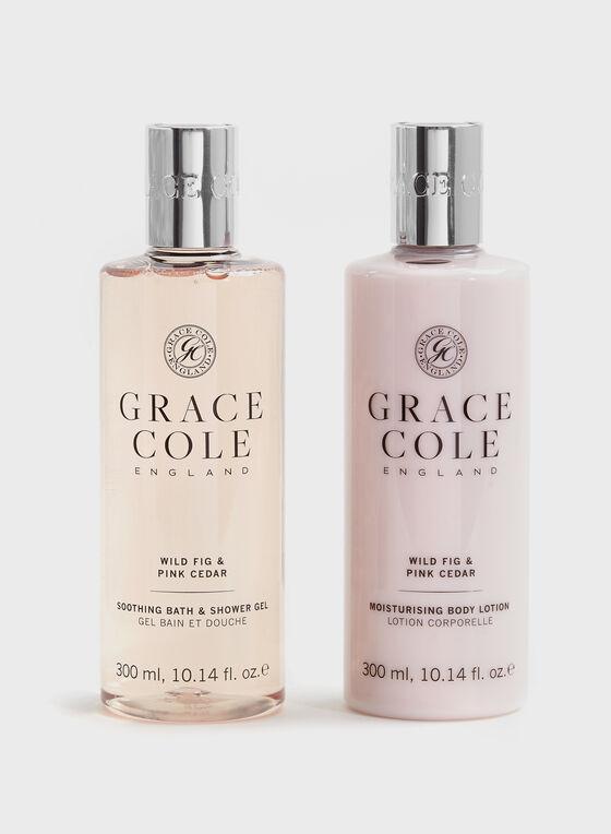 Grace Cole - Duo gel douche et lotion pour le corps, Rose, hi-res