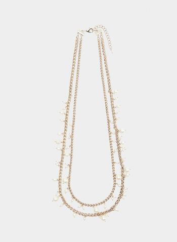 Pearl Dangle Necklace, Off White, hi-res