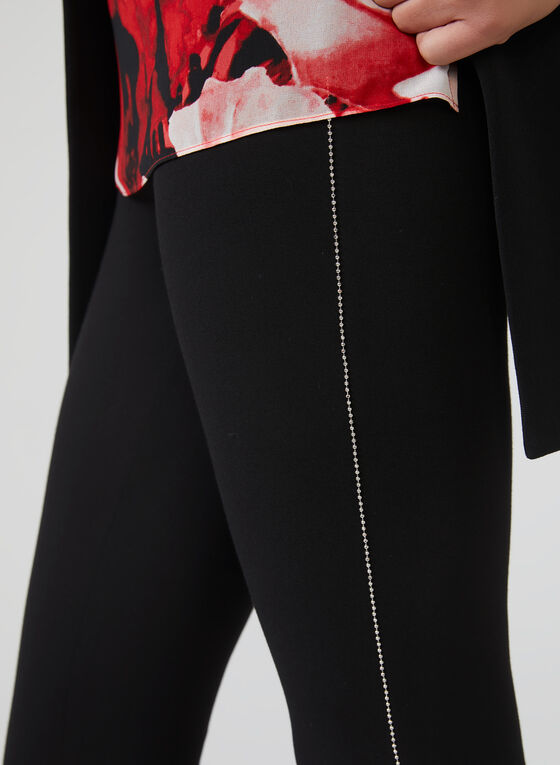 Metal Detail Leggings, Black