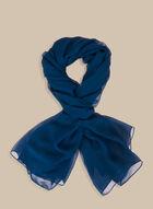 Foulard pashmina léger uni, Bleu