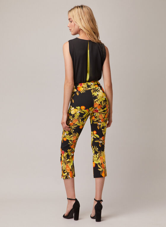 Joseph Ribkoff - Citrus Print Pull-On Pants, Black