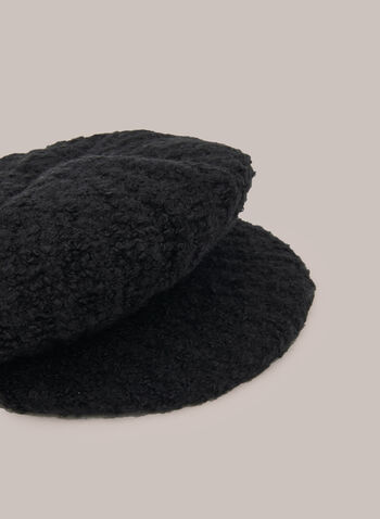 Newsboy Hat, Black,  Fall winter 2020, hat, accessory, wool, newsboy