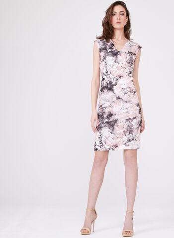 Chetta B - Sleeveless Floral Sheath Day Dress, Multi, hi-res