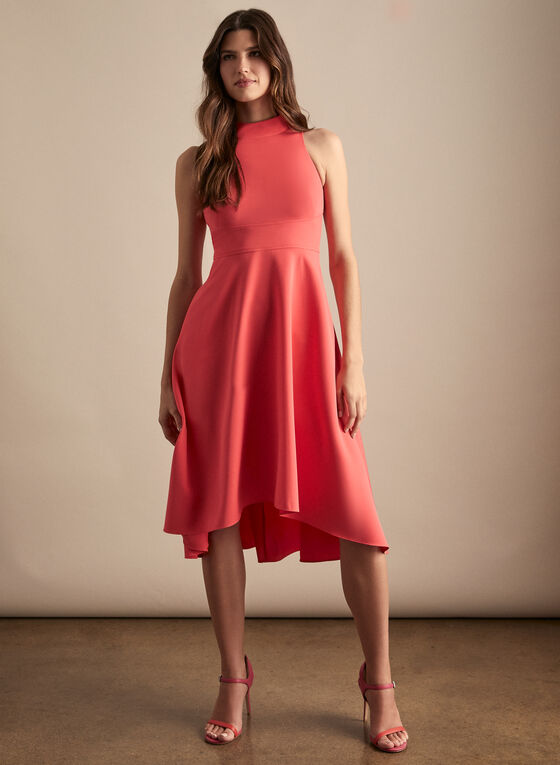 Vince Camuto - High Low Crepe Dress, Orange
