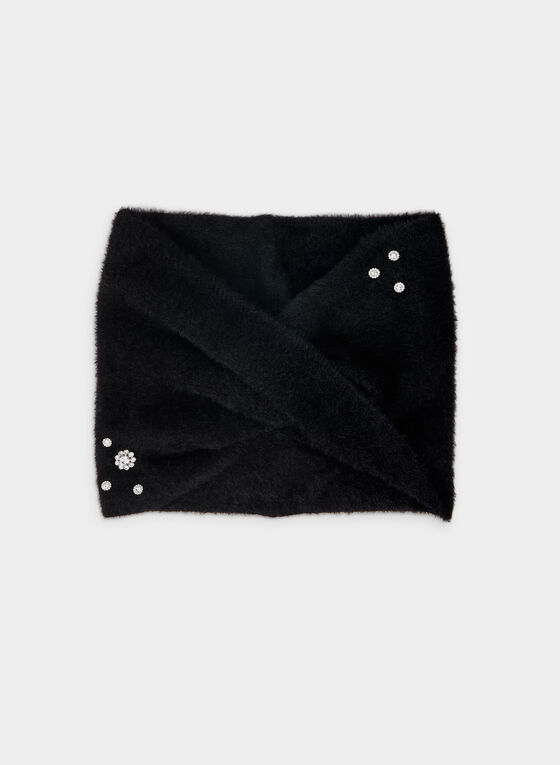 Karl Lagerfeld Paris - Jewel Detail Scarf , Black