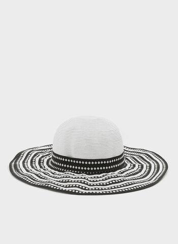 Chapeau capeline bi-ton, Noir, hi-res