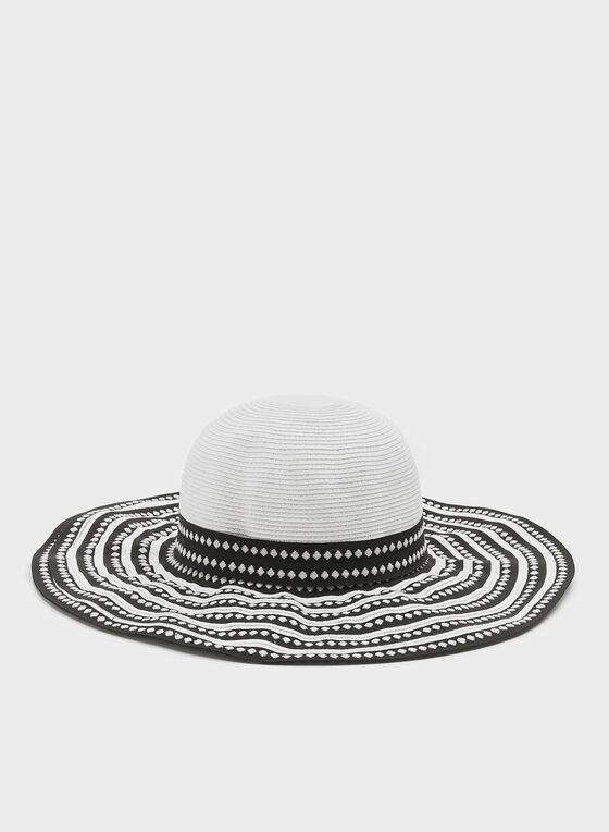 Large Brim Hat, Black, hi-res