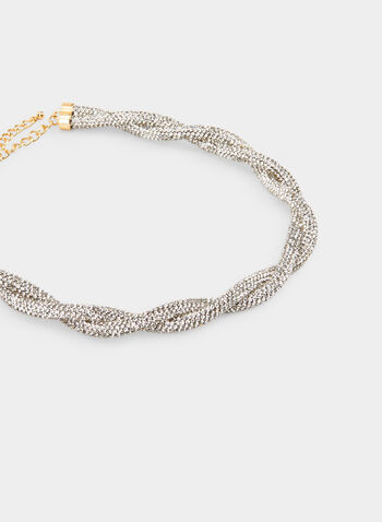Crystal Twist Necklace , Silver, hi-res,  necklace, crystal twist, fall 2019