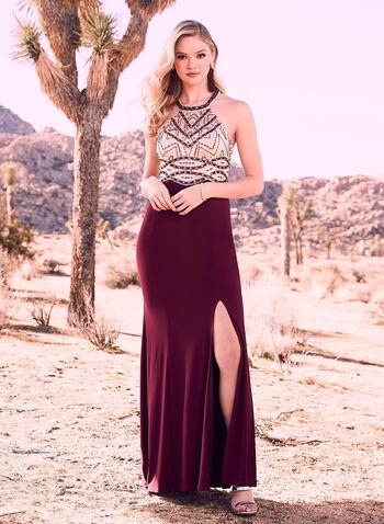 Decode 1.8 - Cleo Neck Illusion Dress, Purple, hi-res,  New York June 2018 Pics
