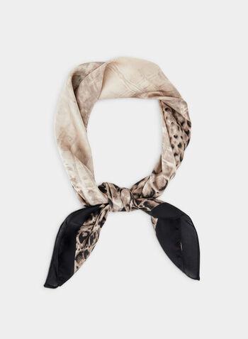Foulard carré motif serpent, Noir, hi-res,  foulard, carré, serpent, automne hiver 2019