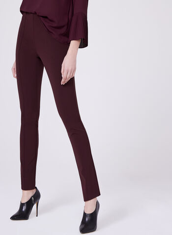 Louben - Pantalon pull-on à jambe étroite, Rouge, hi-res