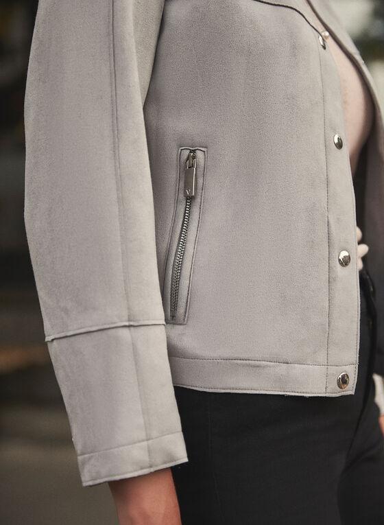 Vince Camuto - Faux Suede Jacket, Silver