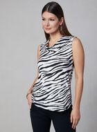Animal Print Sleeveless Top, Black, hi-res