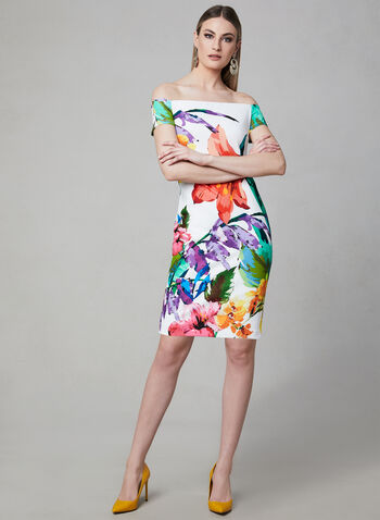 6adac6f2141 Frank Lyman - Floral Print Off-the-Shoulder Dress