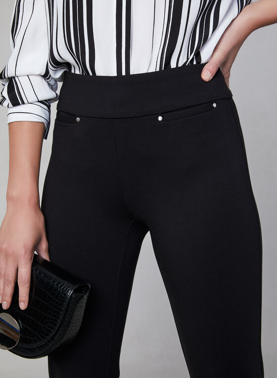 Pantalon Madison à taille pull-on, Noir