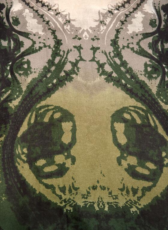 Abstract Print Scarf, Green, hi-res