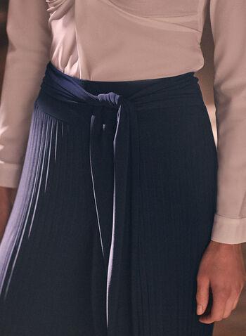 Joseph Ribkoff - Pleated Wide Leg Pants, Black,  pants, wide leg, accordion, pleated, pull-on, belted, ribkoff, lyman, spring summer 2021