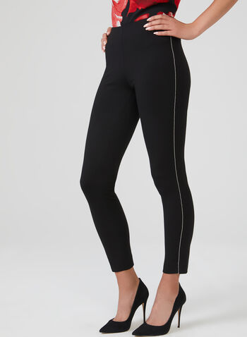 Metal Detail Leggings, Black, hi-res