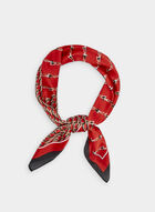 Chain Print Scarf, Red, hi-res