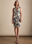 Frank Lyman - Printed Satin Dress, Black