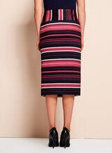 Stripe Print Scuba Pencil Skirt, Black, hi-res