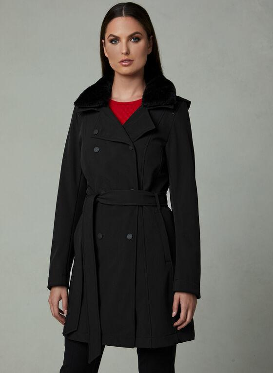 Novelti - Belted Trench Coat, Black, hi-res