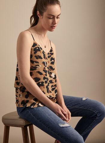 Camisole léopard étagée, Multi,  haut, camisole, léopard, bretelles, étagée, printemps été 2020