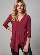 Asymmetric Hem Blouse, Red