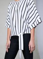 Frank Lyman - Stripe Print Top, White, hi-res