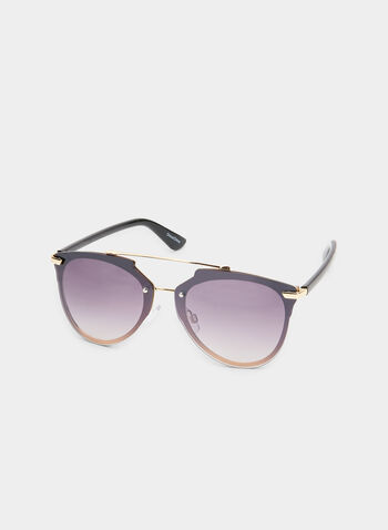 Aviator Sunglasses, Black, hi-res,  wire frame, spring 2019