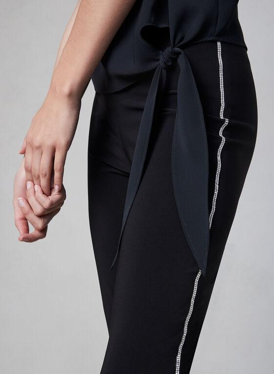 Frank Lyman - Pantalon à bordures de strass, Noir, hi-res
