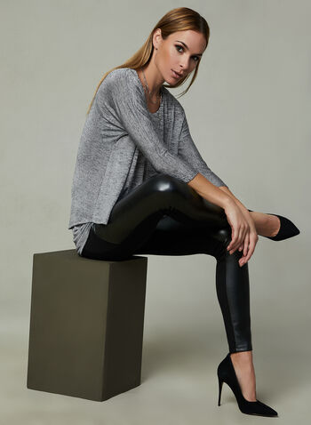 Layered Jersey Top, Grey, hi-res