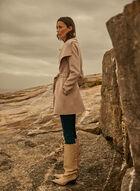 Tahari - Wool Blend Short Wrap Coat, Beige