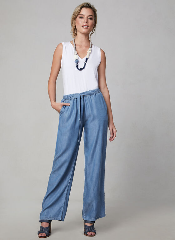 Carré Noir - Wide Leg Pants, Blue
