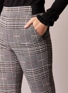 Pantalon motif de carreaux à enfiler, Noir