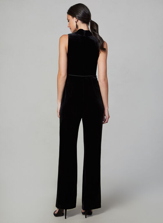 Vince Camuto - Sleeveless Velvet Jumpsuit, Black