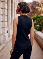 Sleeveless Knit Top, Black